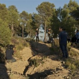 """La ruta 'Vins a la Trinxera' a Corbera d'Ebre, enregistrada per a un programa de """"30 minuts"""" de TV3"""
