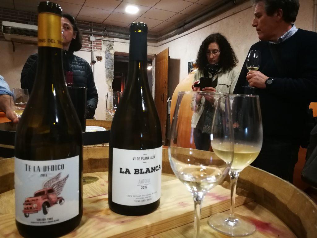 Dos dels vins del celler de Vilalba dels Arcs.