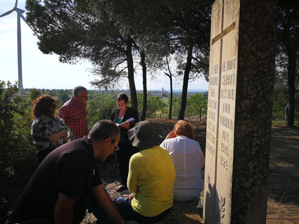 Visita a l'espai de Quatre Camins, a Vilalba dels Arcs