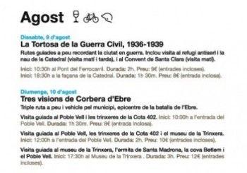 Rutes per Tortosa i Corbera d'Ebre, 09 i 10 d'agost 2014