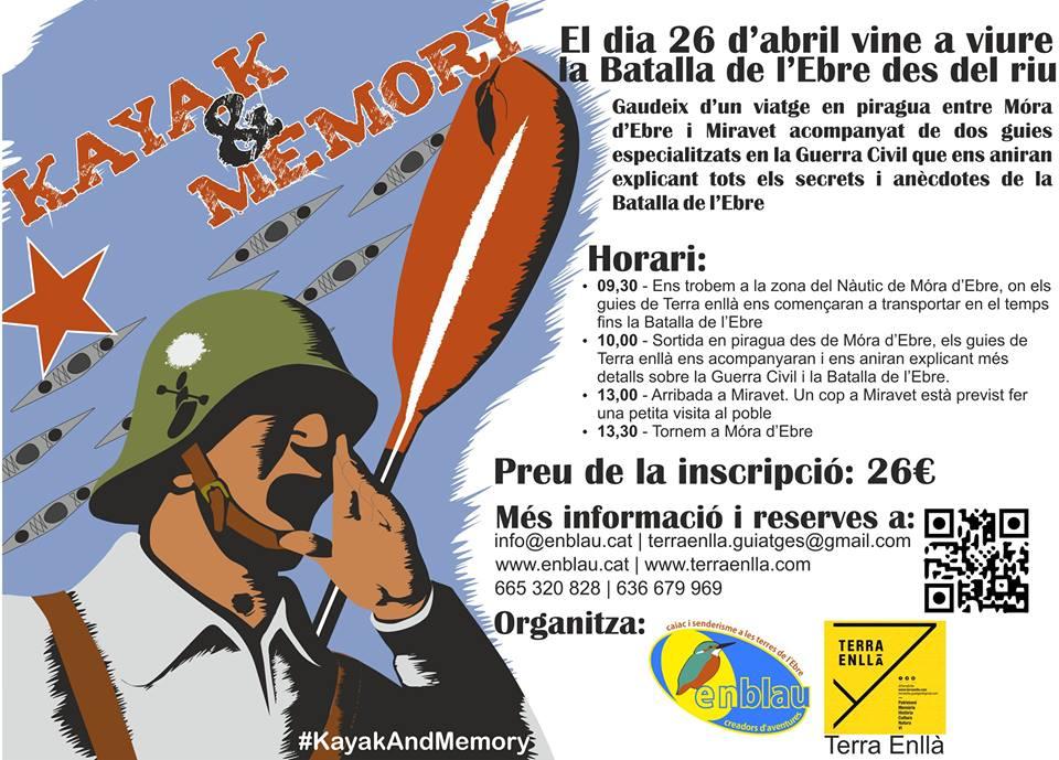 Rutas por los espacios de la batalla del Ebro. Kayak & Memory
