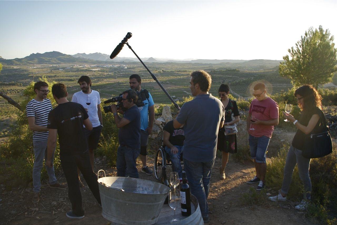 Terra Enllà i Celler Frisach, enregistrament del documental de 30 minuts. Cota 402