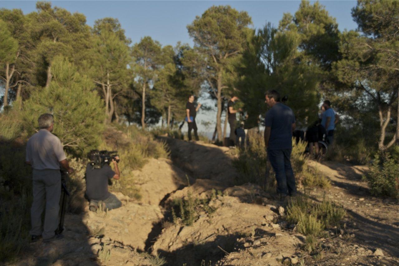 """Terra Enllà y la bodega Celler Frisach. Grabación del documental para el programa """"30 minuts"""" de TV3."""