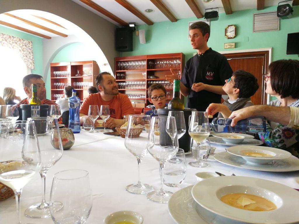 Imatge del dinar de la batalla de l'Ebre al restaurant Miravall. Foto: Terra Enllà
