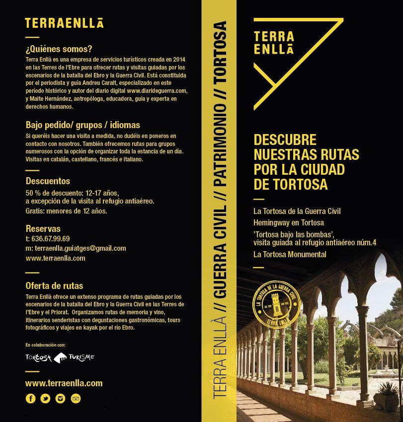Descubre les rutas de Terra Enllà por los espacios de la guerra civil y el patrimonio de Tortosa.