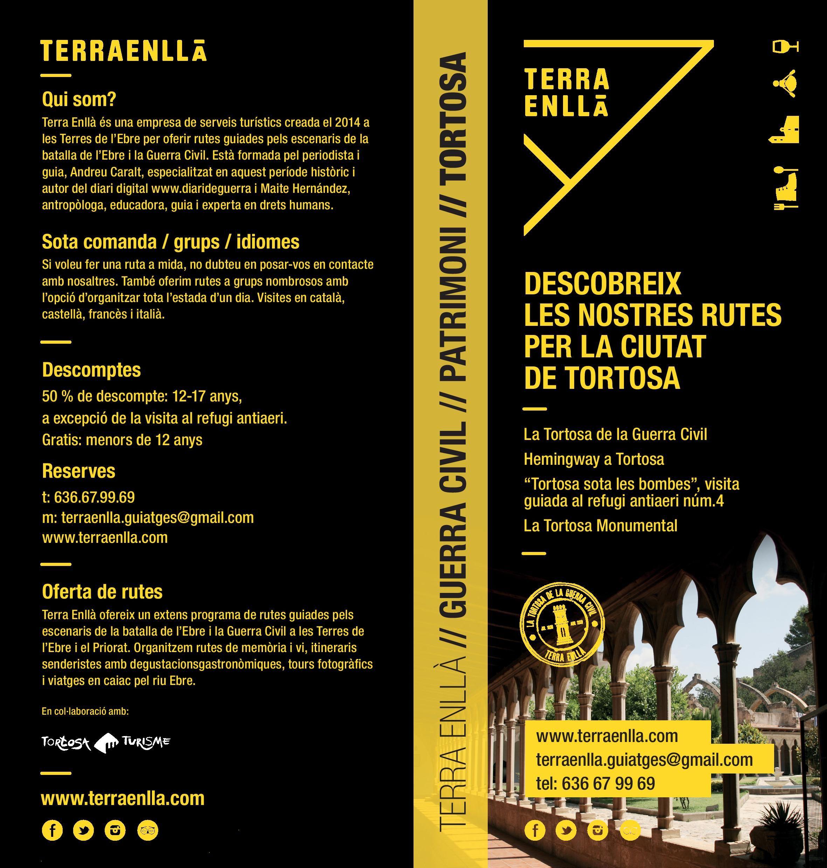 Descobreix les rutes de Terra Enllà pels espais de la guerra civil i el patrimoni de Tortosa.