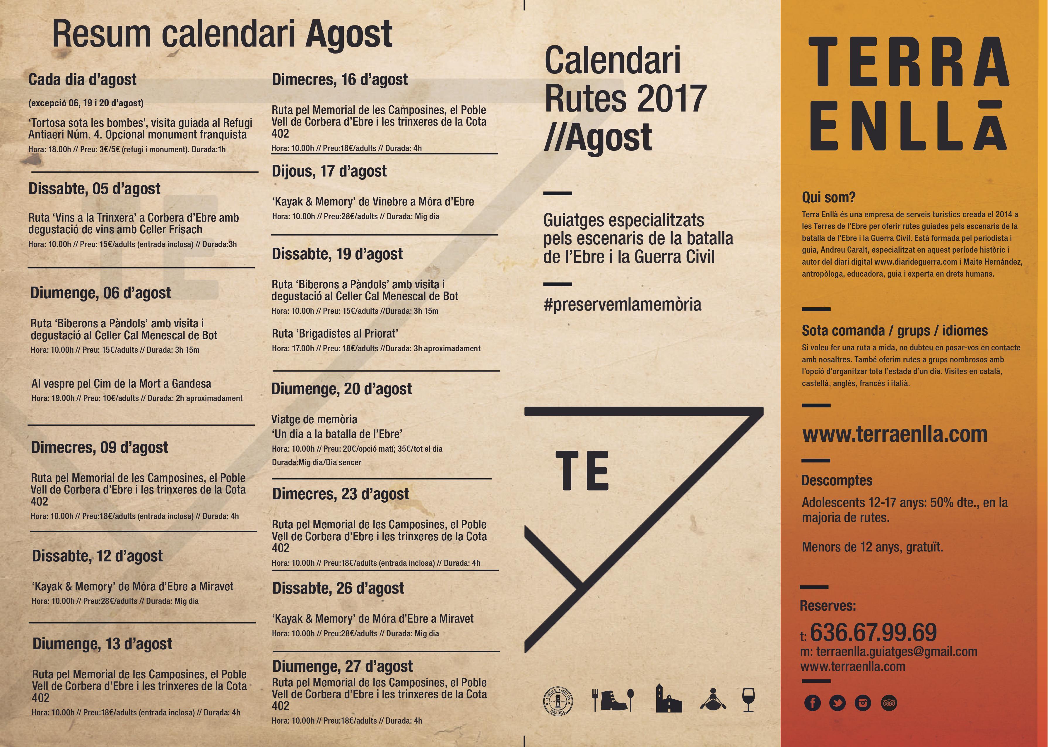 Calendari Terra Enllà Agos