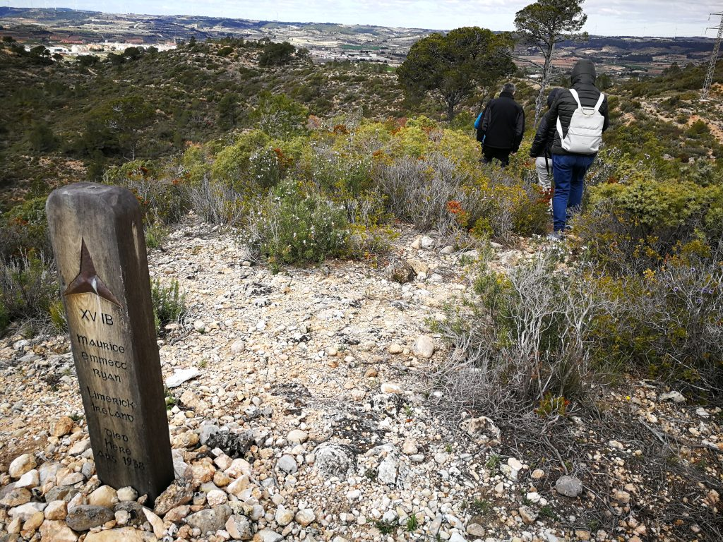 Imatge de l'itinerari del Cim de la Mort, a Gandesa