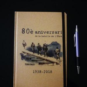Llibreta mitjana. 80è aniversari de la batalla de l'Ebre