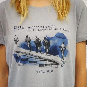 Camiseta. 80è aniversari de la batalla de l'Ebre. Modelo mujer