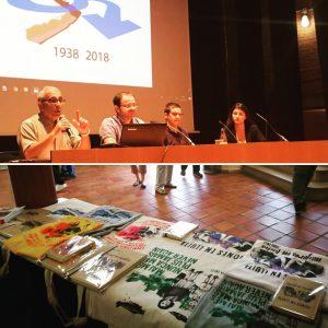 Comunicacions d'Andreu Caralt al Congrés de la Batalla de l'Ebre a Tortosa. Foto: Terra Enllà