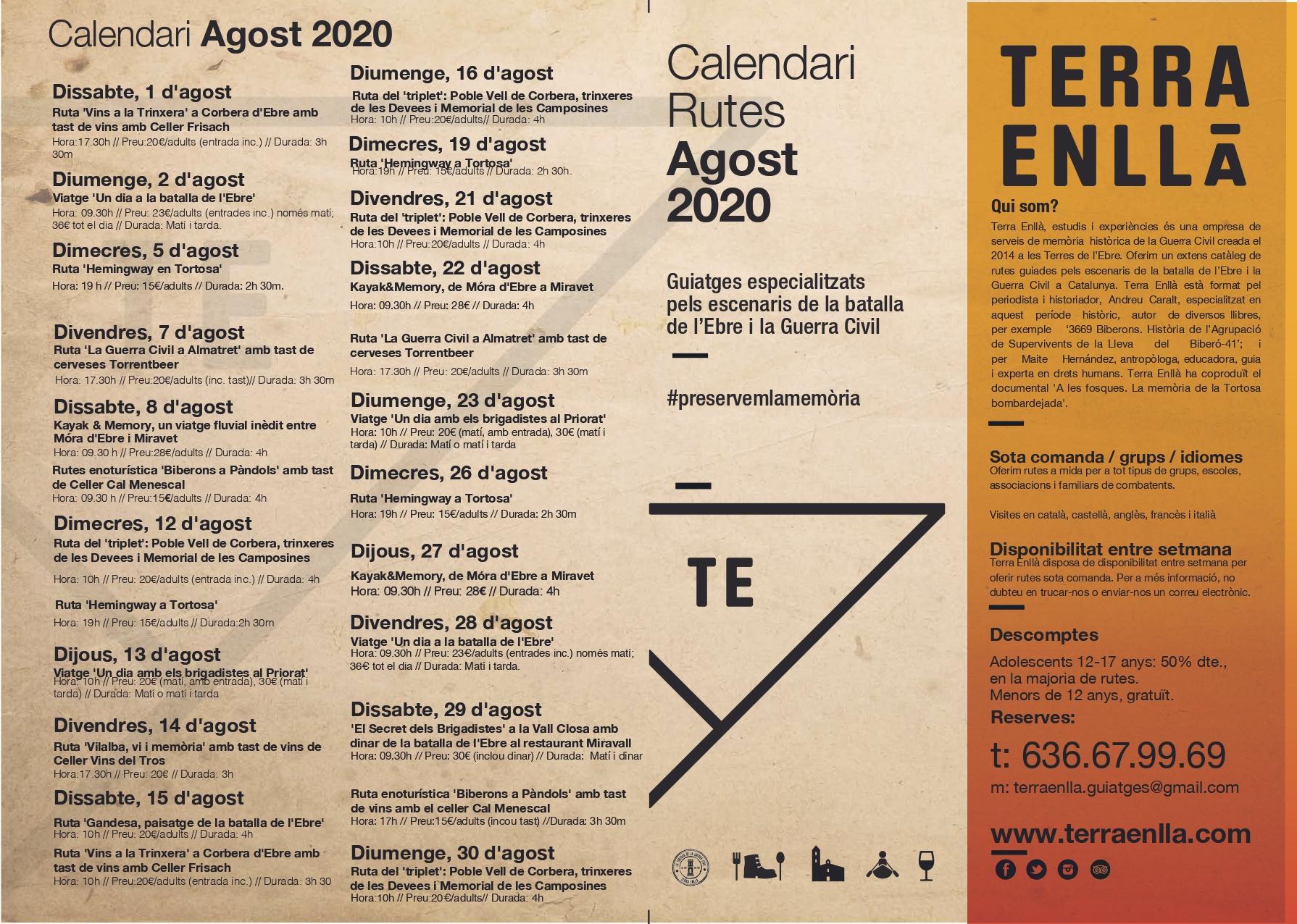 Terra Enllà. Calendari d'agost 2020, pàg. 1