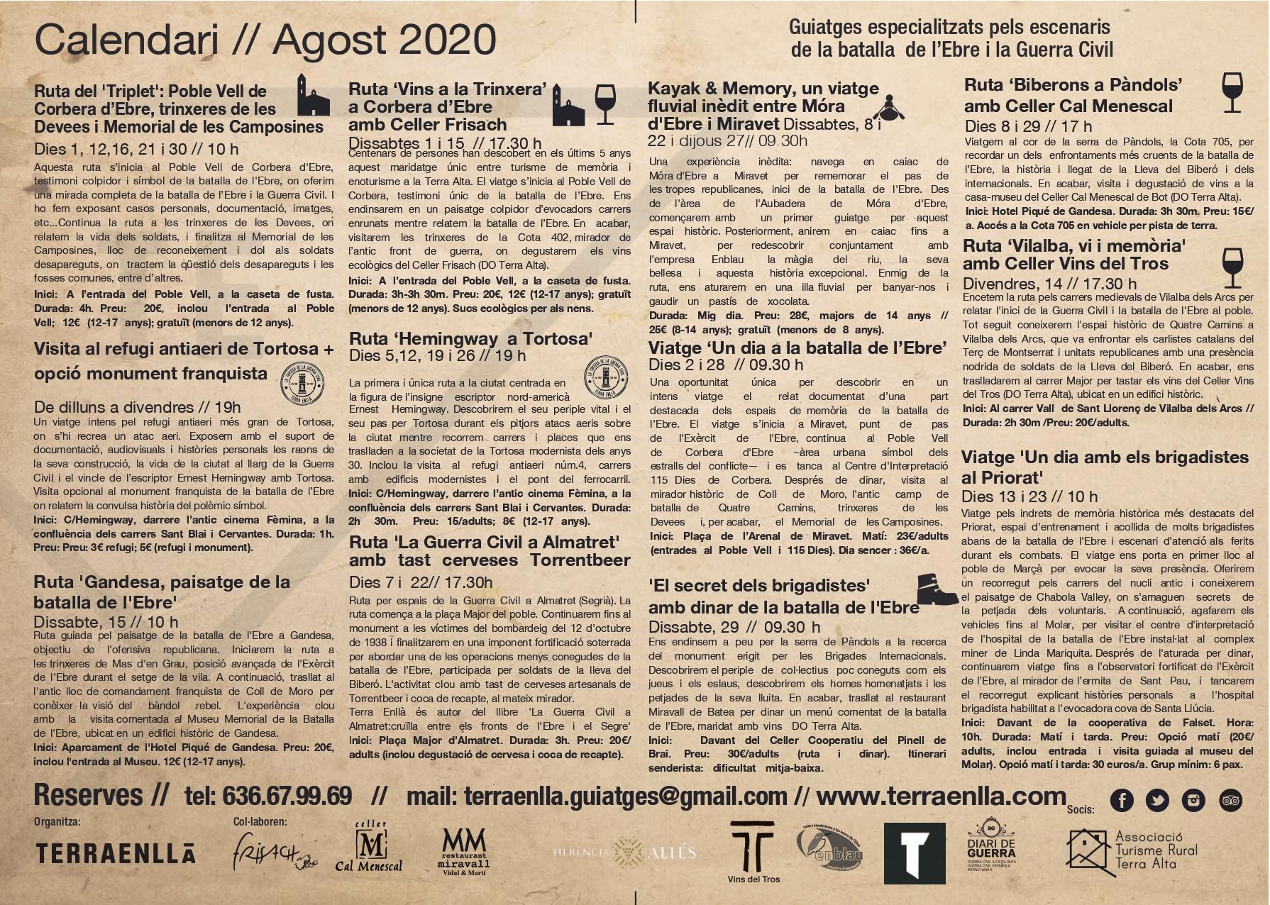Terra Enllà. Calendari d'agost 2020, pàg. 2