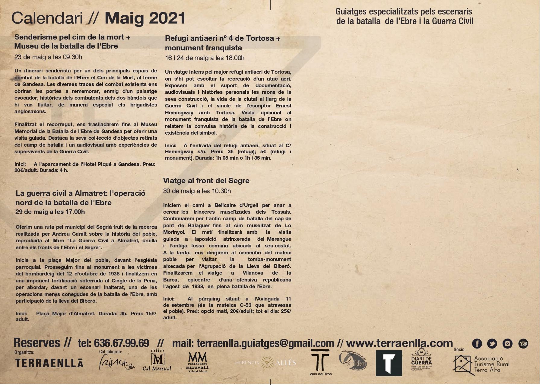 Programa Terra Enllà. Maig, 2021. Pàg 3
