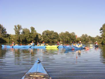"""Riu Ebre. Ruta: """"Kayak & Memory. De Móra d'Ebre a Miravet"""" amb Enblau."""