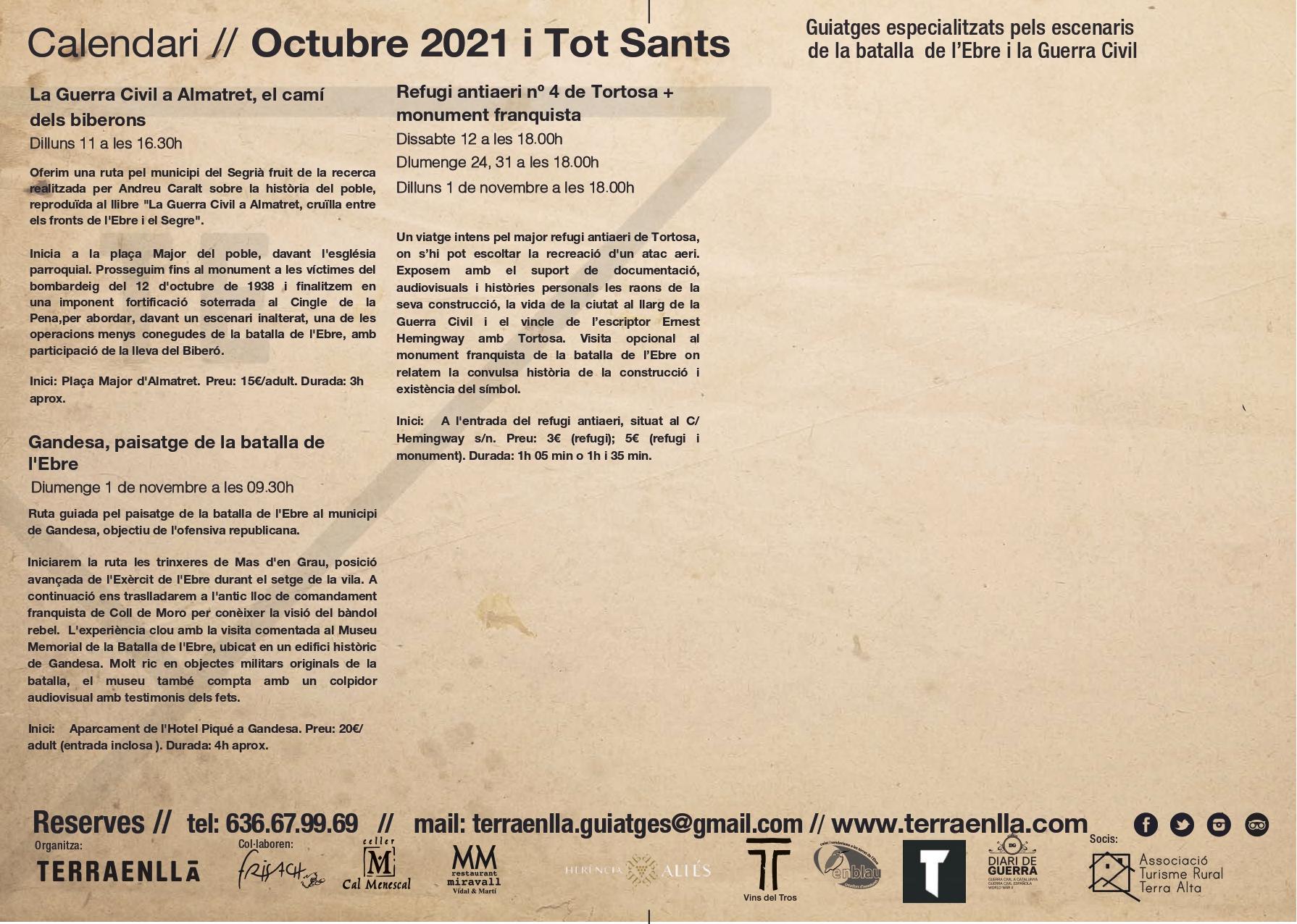 Programa Terra Enllà. Octubre i Tot Sants, 2021, pàgina 3